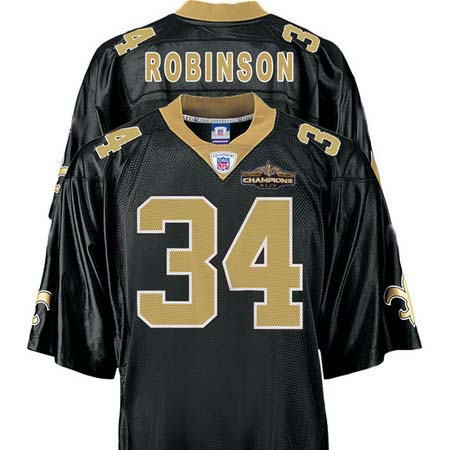 Orleans Saints 34 Patrick Robinson Black Champions patch