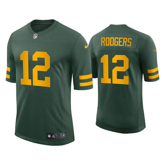 Packers #12 Aaron Rodgers Alternate Green Vapor Limited Jersey
