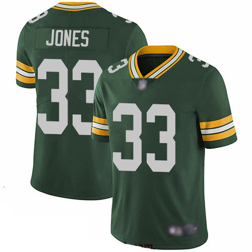Packers #33 Aaron Jones Green Team Color Youth Stitched Football Vapor Untouchable Limited Jersey