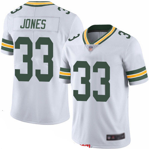 Packers #33 Aaron Jones White Youth Stitched Football Vapor Untouchable Limited Jersey