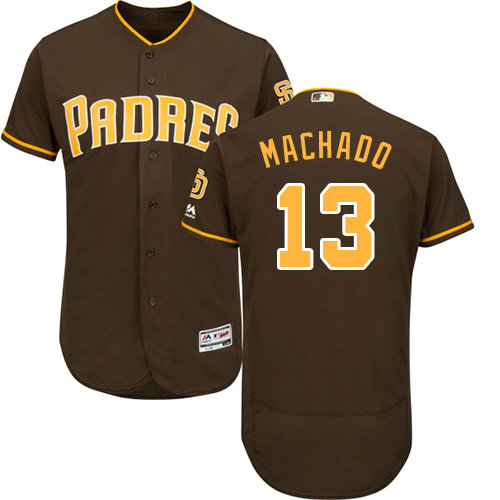 Padres #13 Manny Machado Brown Flexbase Authentic Collection Stitched Baseball Jersey
