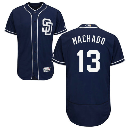 Padres #13 Manny Machado Navy Blue Flexbase Authentic Collection Stitched Baseball Jersey