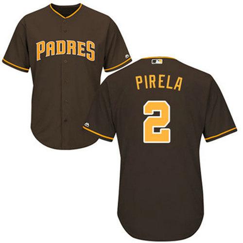 Padres #2 Jose Pirela Brown Cool Base Stitched Youth Baseball Jersey