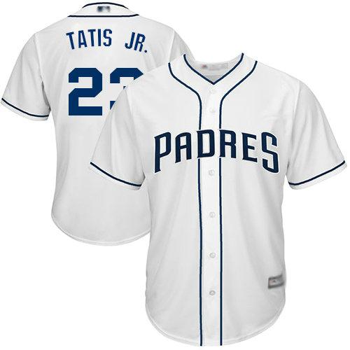 Padres #23 Fernando Tatis Jr. White Cool Base Stitched Youth Baseball Jersey