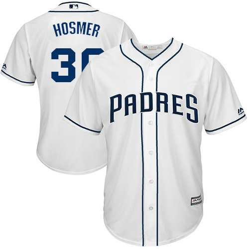 Padres #30 Eric Hosmer White Cool Base Stitched Youth MLB Jersey