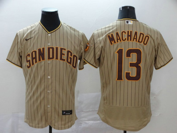 Padres 13 Manny Machado Gray Nike 2020 Flexbase Jersey