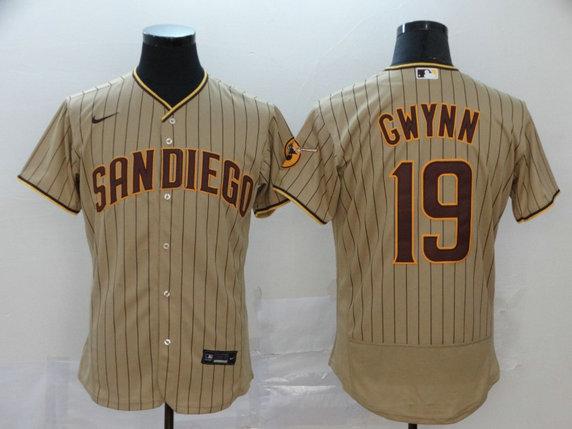 Padres 19 Tony Gwynn Gray Nike 2020 Flexbase Jersey