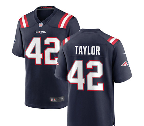 Patriots #42 J.J. Taylor Navy Vapor Limited Jersey