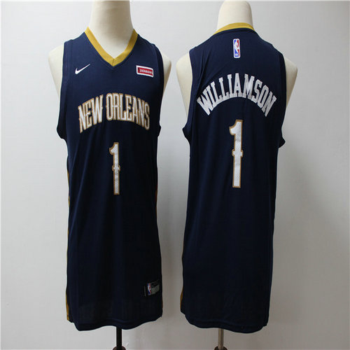 Pelicans 1 Zion Williamson Navy Youth Nike Swingman Jersey