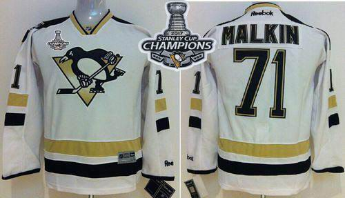 Penguins #71 Evgeni Malkin White 2014 Stadium Series 2017 Stanley Cup Finals Champions Stitched Youth NHL Jersey