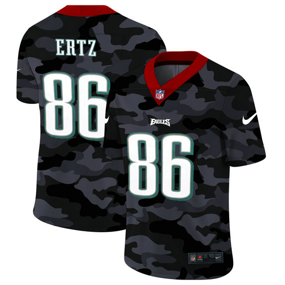 Philadelphia Eagles #86 Zach Ertz Men's Nike 2020 Black CAMO Vapor Untouchable Limited Stitched NFL Jersey