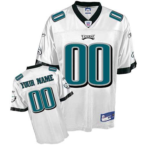 Philadelphia Eagles Customized White Jerseys