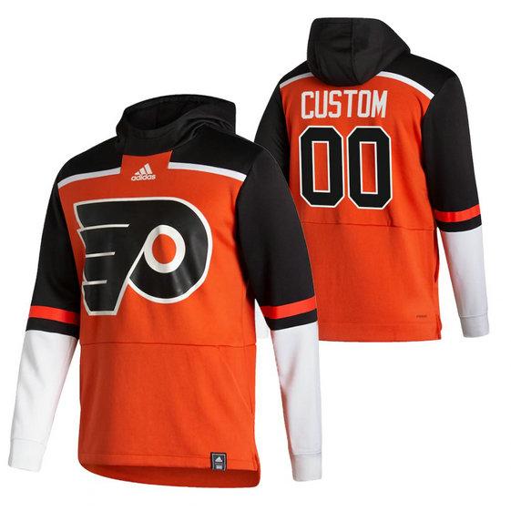 Philadelphia Flyers Custom Adidas Reverse Retro Pullover Hoodie Orange