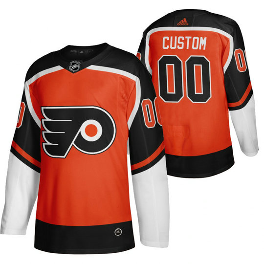 Philadelphia Flyers Custom Orange Men's Adidas 2020-21 Alternate Authentic Player NHL Jersey
