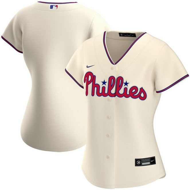 Philadelphia Phillies Nike Women's Alternate 2020 MLB Team Jersey Cream