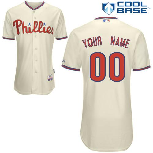 Philadelphia Phillies personalized Custom cream MLB Jersey