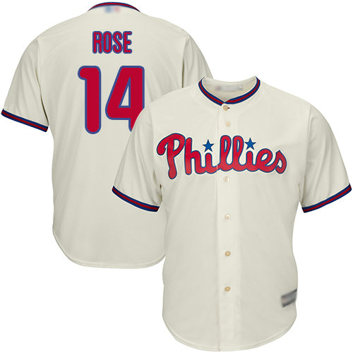 Phillies #14 Pete Rose Cream Cool Base Stitched Youth Baseball Jersey