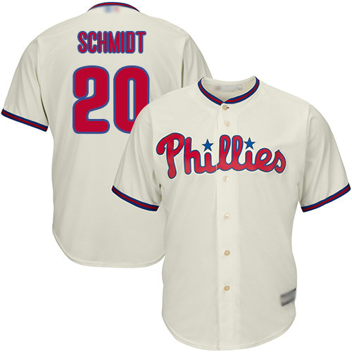 Phillies #20 Mike Schmidt Cream Cool Base Stitched Youth Baseball Jersey
