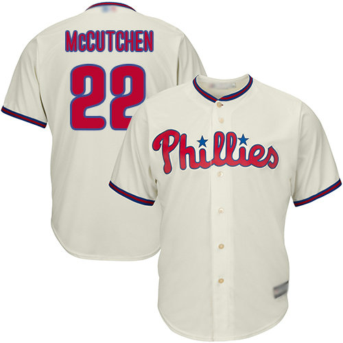 Phillies #22 Andrew McCutchen Cream Cool Base Stitched Youth Baseball Jersey