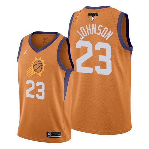 Phoenix Suns #23 Cameron Johnson Men's 2021 NBA Finals Bound Statement Edition NBA Jersey Orange