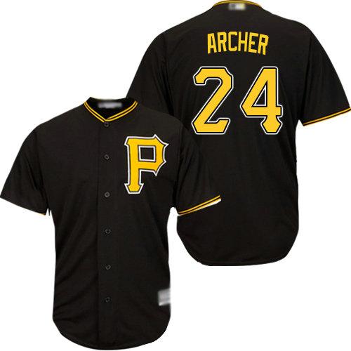 Pirates #24 Chris Archer Black Cool Base Stitched Youth Baseball Jersey