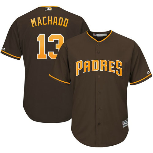 Pirates 13 Manny Machado Brown Cool Base Jersey