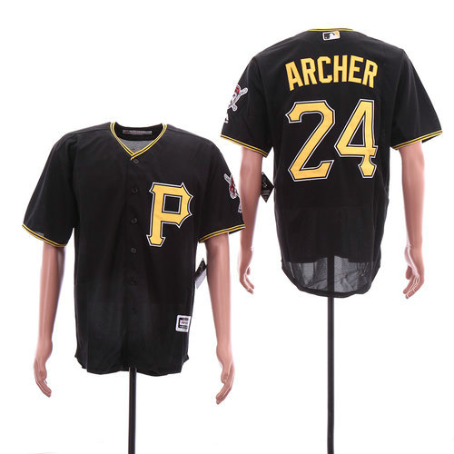 Pirates 24 Chris Archer Black Cool Base Jersey