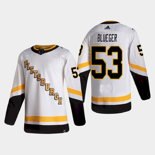 Pittsburgh Penguins #53 Teddy Blueger Retro Alternate NHL Jersey