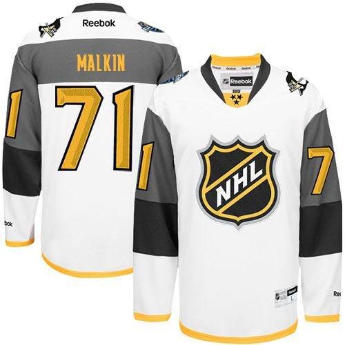 Pittsburgh Penguins 71 Evgeni Malkin White 2016 All Star NHL Jersey