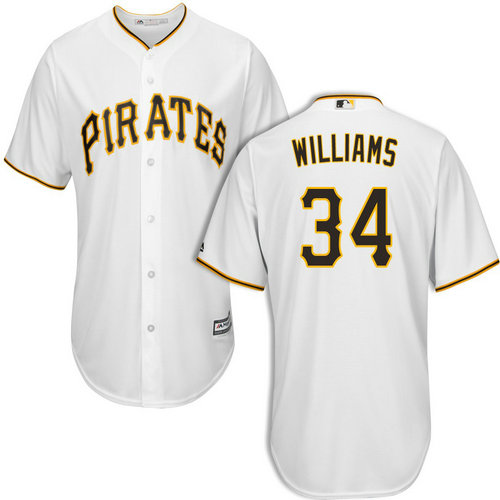 Pittsburgh Pirates #34 Trevor Williams White Cool Base Jersey