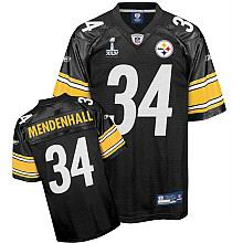 Pittsburgh Steelers #34 Rashard Mendenhall 2011 Super Bowl XLV Team Color Jersey black