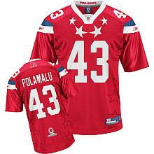Pittsburgh Steelers #43 Troy Polamalu 2011 Pro Bowl AFC Jersey