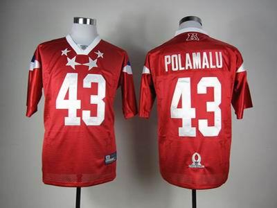Pittsburgh Steelers #43 Troy Polamalu 2012 Pro Bowl AFC Jersey