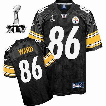 Pittsburgh Steelers #86 Hines Ward 2011 Super Bowl XLV Team Color Jersey black