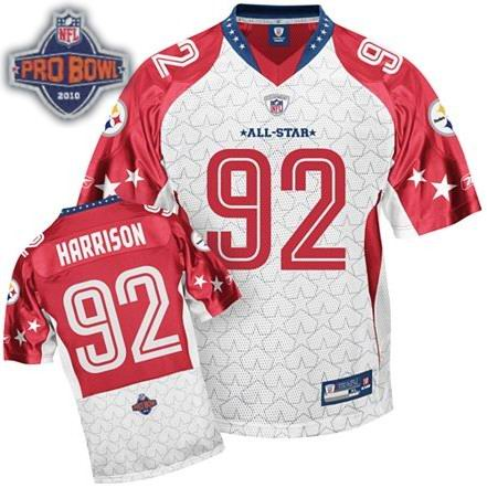 Pittsburgh Steelers 92# James Harrison 2010 Pro Bowl AFC