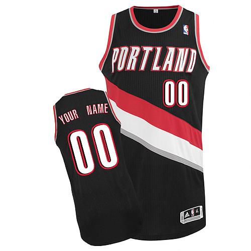Portland Trail Blazers Personalized custom Black Jersey (S-3XL)