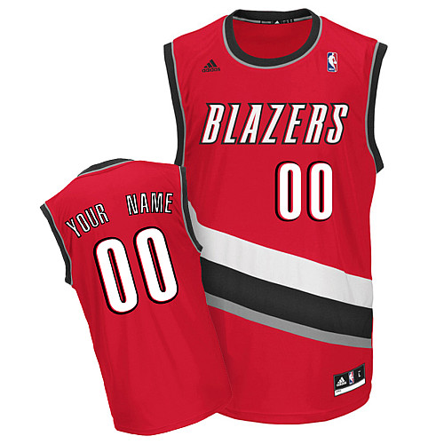 Portland Trail Blazers Personalized custom Red Jersey (S-3XL)