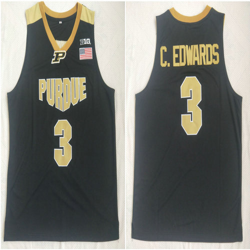 Purdue 3 Carsen Edwards Black College Basketball Jersey