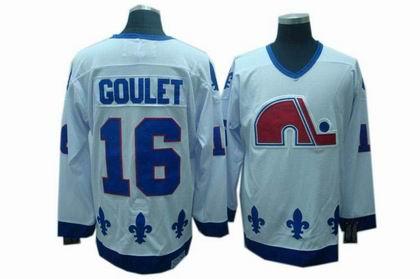 Quebec Nordiques #16 Michel Goulet CCM Jerseys white