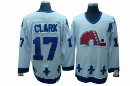 Quebec Nordiques #17 Clark CCM Jerseys white