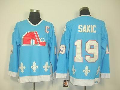 Quebec Nordiques #19 JOE SAKIC LT blue CCM Jerseys