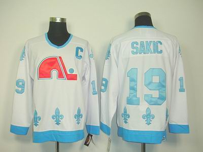 Quebec Nordiques #19 JOE SAKIC WHITE CCM Jerseys