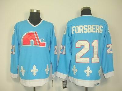 Quebec Nordiques #21 PETER FORSBERG LT blue CCM Jerseys
