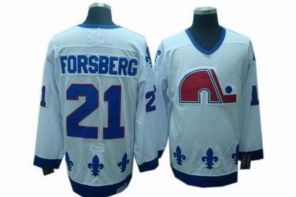 Quebec Nordiques jersey #21 PETER FORSBERG CCM Jerseys white