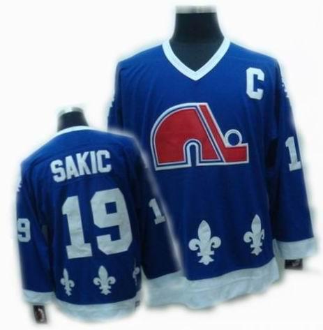 Quebec Nordiques jerseys #19 JOE SAKIC blue CCM Jerseys