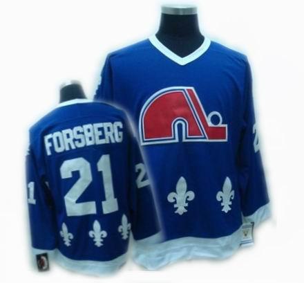 Quebec Nordiques jerseys #21 PETER FORSBERG blue CCM Jerseys