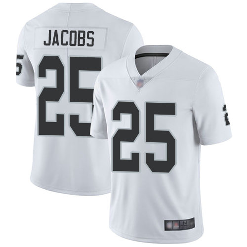 Raiders #25 Josh Jacobs White Youth Stitched Football Vapor Untouchable Limited Jersey