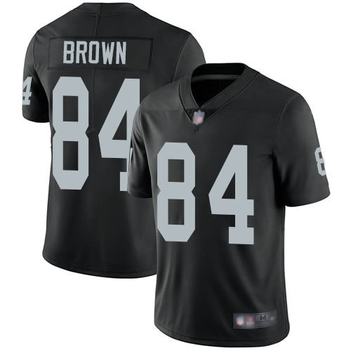 Raiders #84 Antonio Brown Black Team Color Men's Stitched Football Vapor Untouchable Limited Jersey