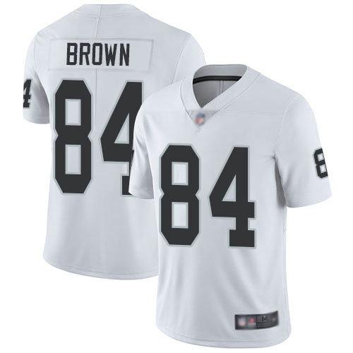 Raiders #84 Antonio Brown White Men's Stitched Football Vapor Untouchable Limited Jersey