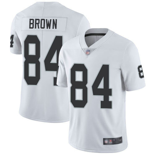Raiders #84 Antonio Brown White Youth Stitched Football Vapor Untouchable Limited Jersey